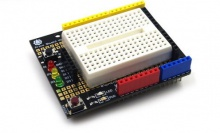 Arduino Proto Shield V2 with mini breadboard